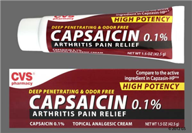 CVS Capsaicin 0.1% Topical Cream